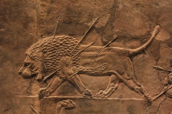 2016.08.05 Chasse aux lions dans la région de Ninive (fresque assyrienne)