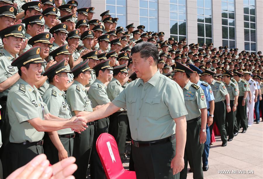 2016.08.23 le président Xi visite l'Armée populaire de libération de Chine 2016072814425725485