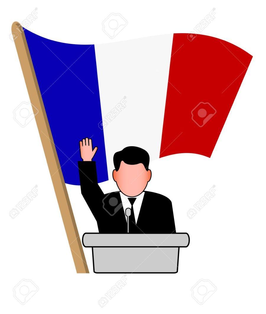 2017-01-31-19796307-la-performance-de-l-homme-de-l-homme-politique-sous-le-drapeau-banque-dimages
