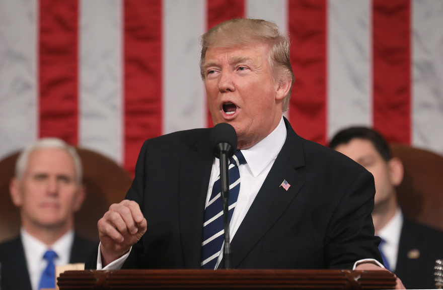 US President Donald J. Trump address Joint Session of Congress