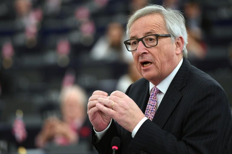 2017.03.21 le président de la Commission européenne, Jean-Claude Juncker à Strasbourg le 15 mars 2017AFP Archives-FREDERICK FLORIN 200c82868dc77b316b2a5d58fc8182905d52b1a1