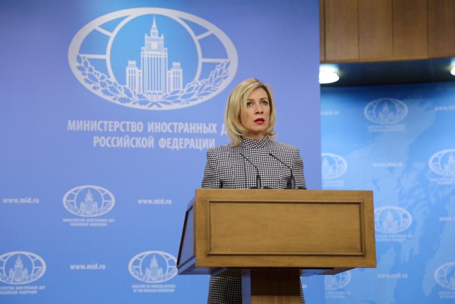 2017.03.30  Maria Zakharova, porte-parole du Ministère russe des Affaires étrangèresБрифинг (4).jpg