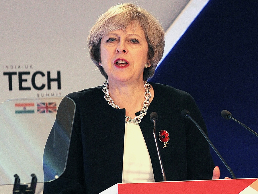 British Prime Minister Theresa May in India