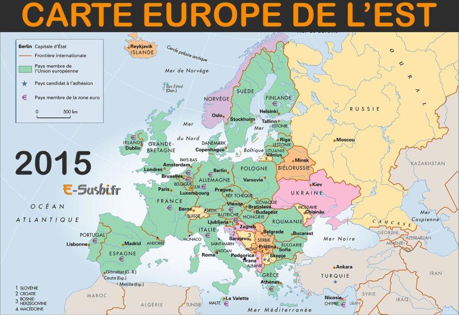 carte europe de l'est 2017