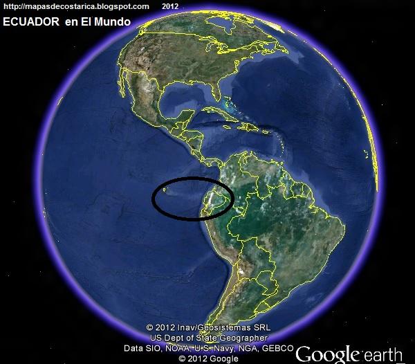 2017.06.29 1.a. El Mundo. Ubicación de ECUADOR en El Mundo. , Google Earth 2012