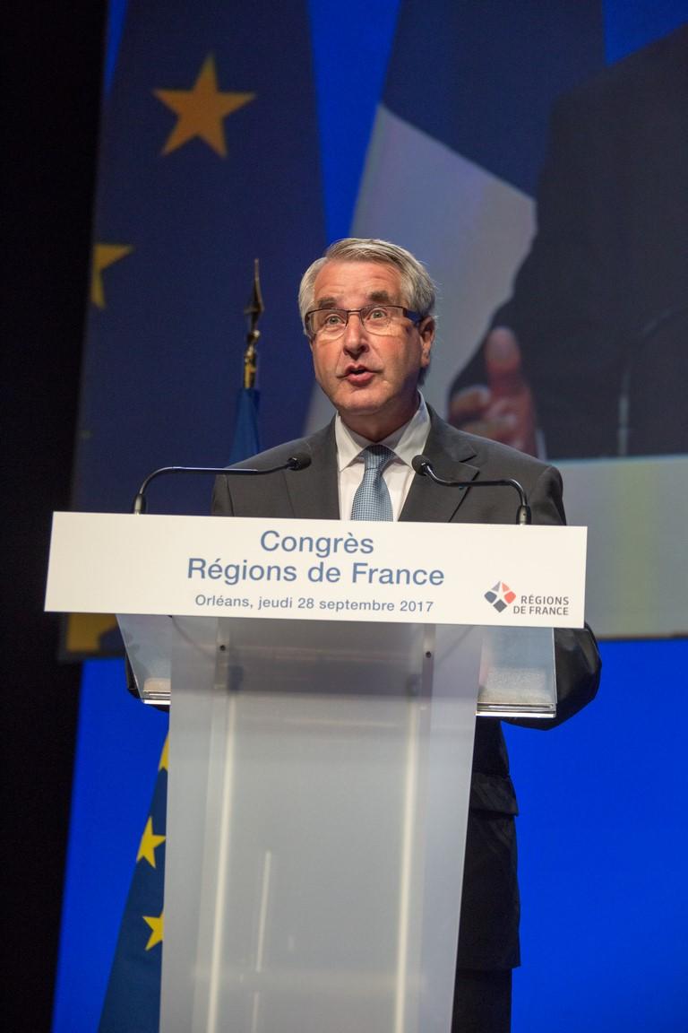 2017-09-28-CONGRES-045-ReduiteFrançois Bonneau (Centre-Val de Loire), président délégué de Régions de France.