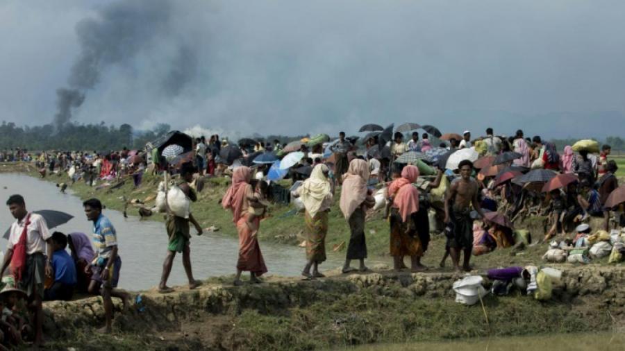 2017.10.10.essentiellement membres de la minorité musulmane des Rohingyas379bcd179900f9ff8c3160f3f3cba0da384a16ef