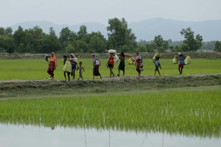 2017.10.10.essentiellement membres de la minorité musulmane des Rohingyas982ecbba7d6c1fbc5d0f0543703b24e6e317182c