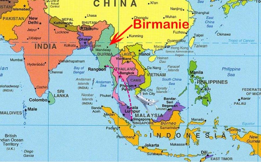 BIRMANIE carte-du-monde-birmanie