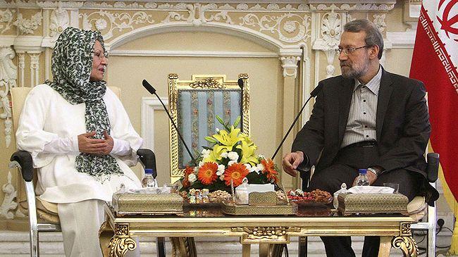 Jalal-Talabanis-spouse-Ali-Larijani décédé