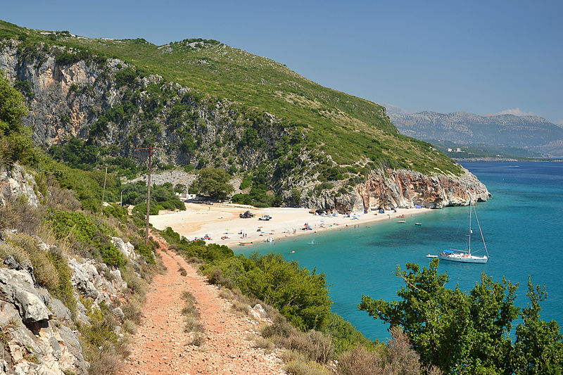 Albanie Gjipe_beach,_Albania
