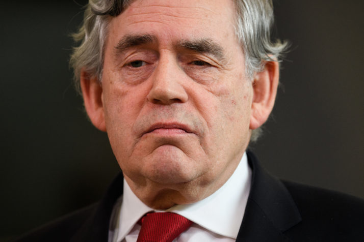 Gordon Brown Delivers A Speech On Business And The Car Industry