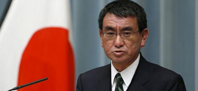 Kono-Taro Ministre japonais des Affaires étrangères Taro Kono
