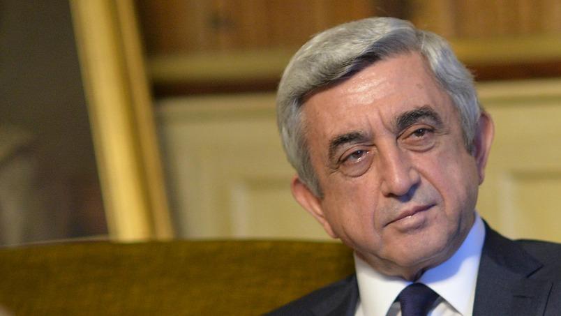 Serge-Sarkissian le Président arménien Serge Sargsian.