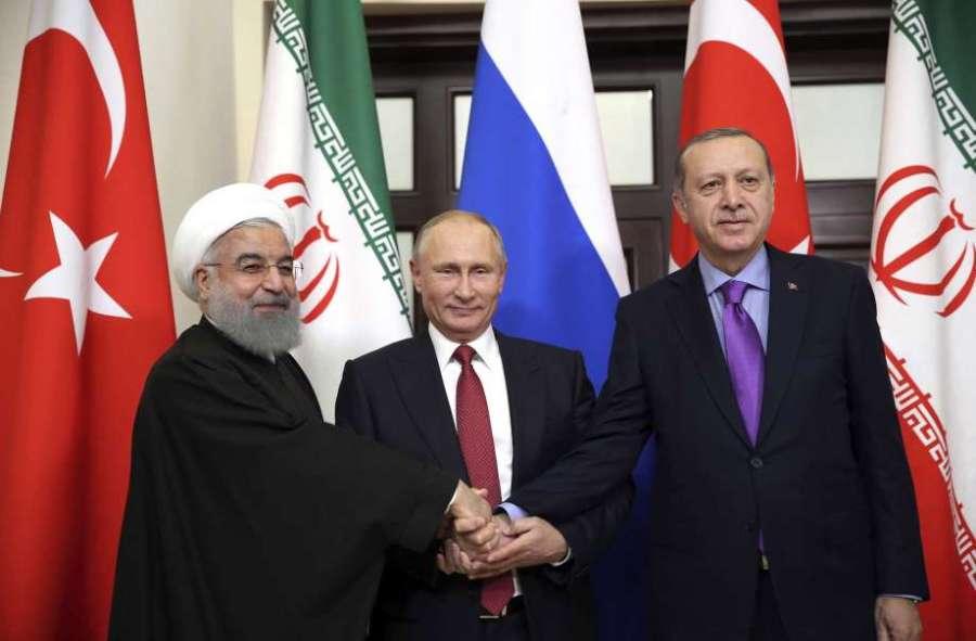 alliance se forme aujourd'hui entre la Russie, la Turquie et l'Iran 920x920