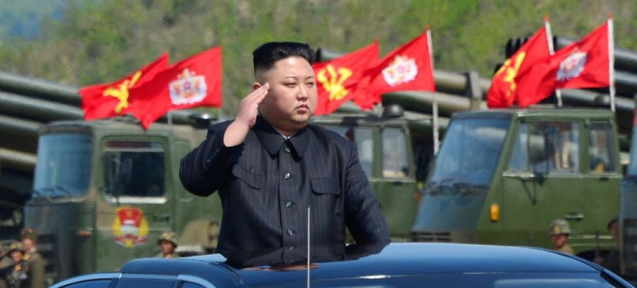FILE PHOTO: North Korea's leader Kim Jong Un inspects artillery launchers ahead of a military drill