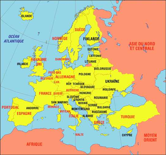 Europe-centrale-carte-de-l-Europe-centrale-Republique-Tcheque-Pologne-Slovaquie-Hongrie-Roumanie-Moldavie-Lichtenstein-Suisse-Europe-centrale-0