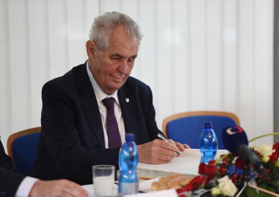le chef de l_Etat Miloš Zeman Tchèque zeman6