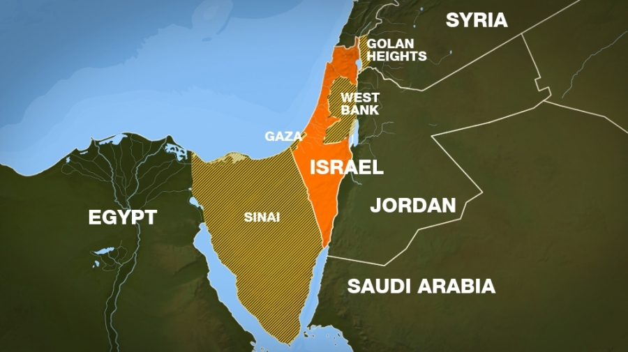 PALESTINE map-mena-israel-palestine