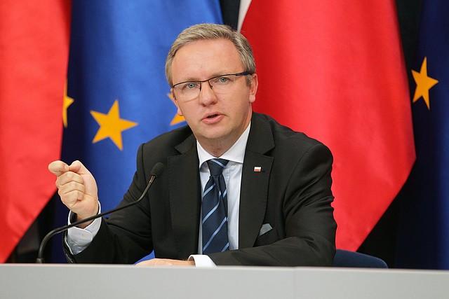 POLOGNE 2017.12.24 Krzysztof Szczerski, chef de la Chancellerie du Président de Pologneszczerski
