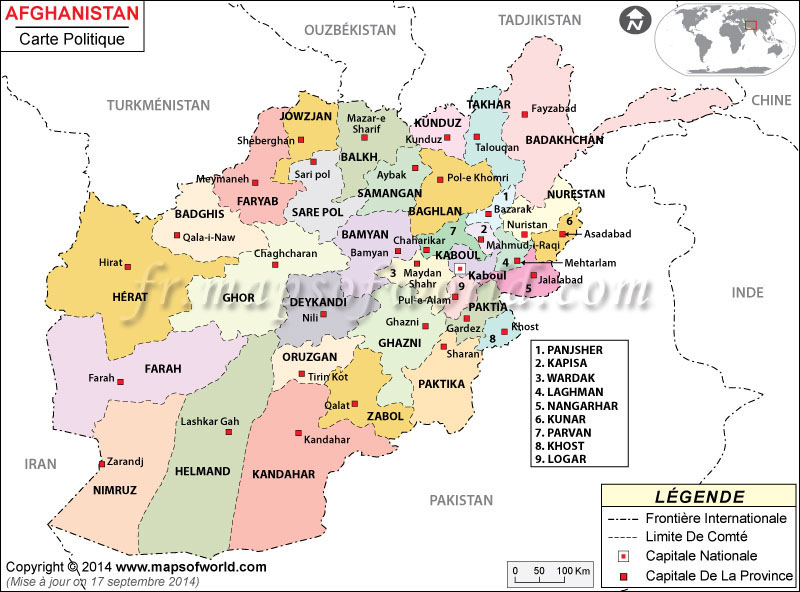 afghanistan-political-map