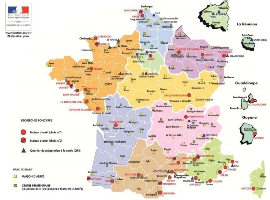 FRANCE PRISONS 22.01.2018 - ob_9603a7_carte-nouvelles-prisons