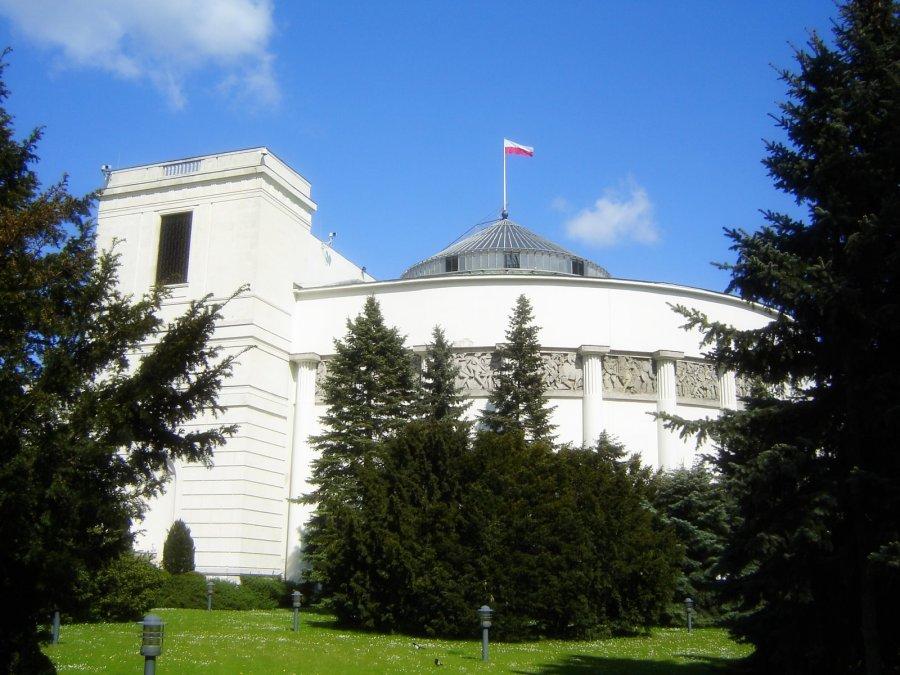 POLOGNE Bâtiment polonais du parlement, le Sejm de la Pologne Photos stockSejm_RP