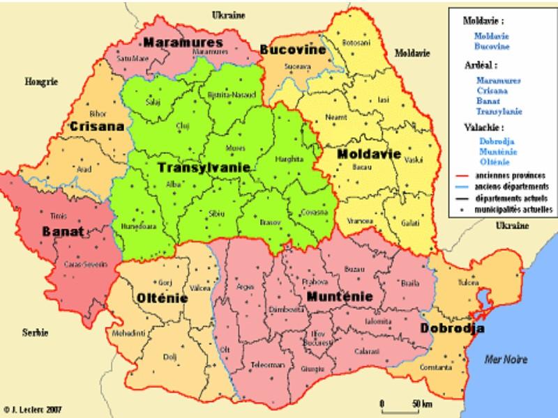 ROUMANIE Lorganisation-administrative-de-la-Roumanie