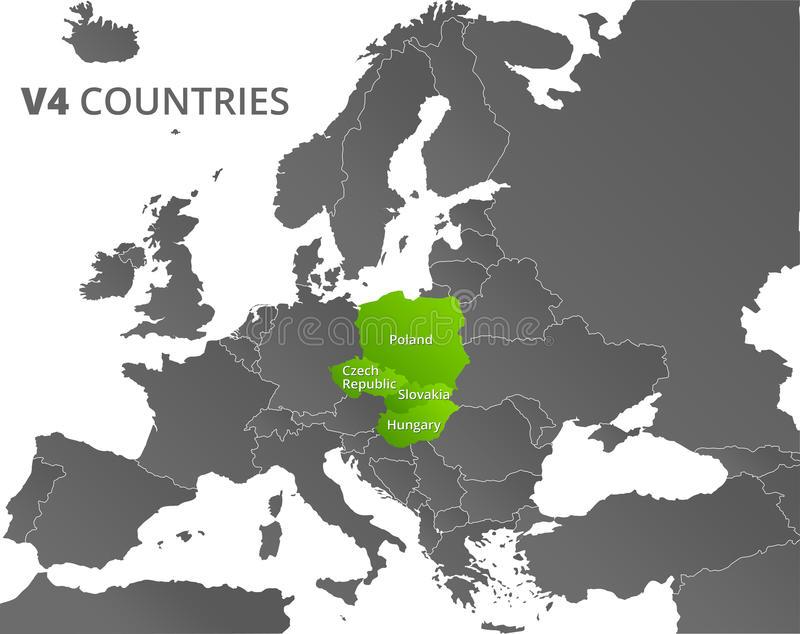 carte-de-pays-du-groupe-v-de-visegrad-63540366