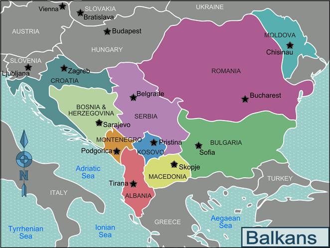 KOSOVO BALKANS Map-Balkans