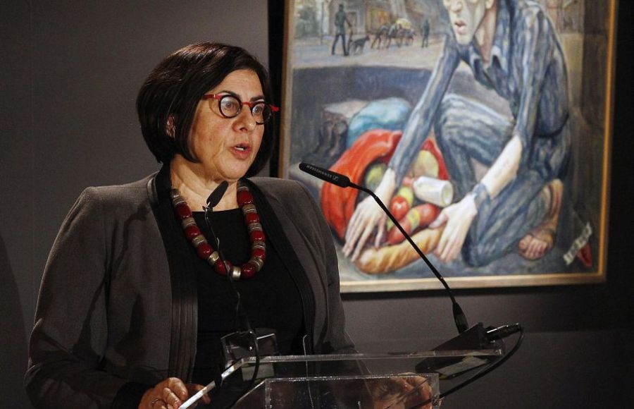 L'ambassadrice d'Israël en Pologne, Anna Azari lors d'une commémoration au camp Auschwitz II-Birkenau, le 27 janvier 2018. REUTERS-Kacper Pempelimage