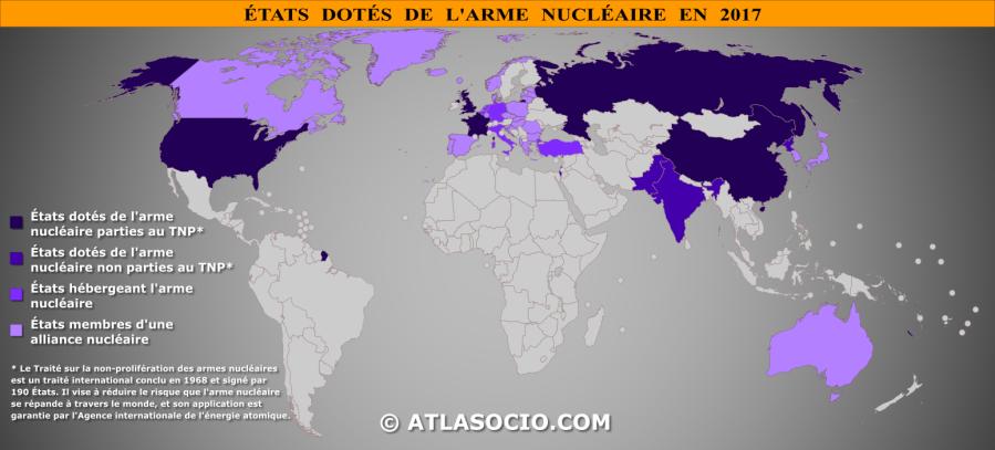 NUCLEAIRE carte-monde-etats-dotes-arme-nucleaire-en-2017_atlasocio