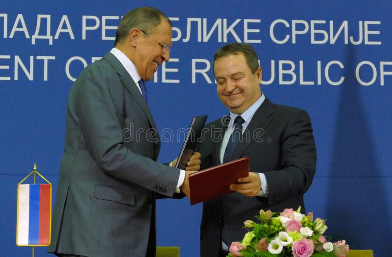 RUSSIE SERBIE conférence-de-presse-commune-des-ministres-des-affaires-étrangères-russes-et-serbes-de-l-ivica-dacic-et-du-sergey-lavrov-82366320