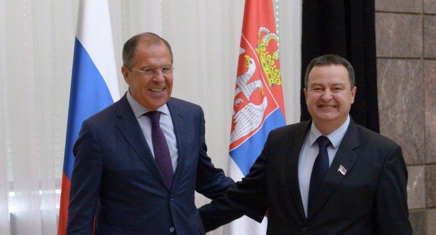 SERBIE LAVROV & Ivica Dačić, Premier Vice-premier Ministre et Ministre des Affaires étrangères serbe 1014457323