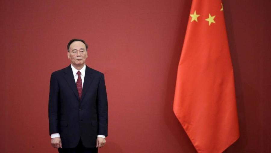 CHINE Le Chinois Wang Qishan, bête noire des -tigres- et des -mouches-, est désormais le vice-président de Xi Jinping. REUTERS-Jason Lee-File Photo 2018-02-27--t055446z_1881177860_rc1