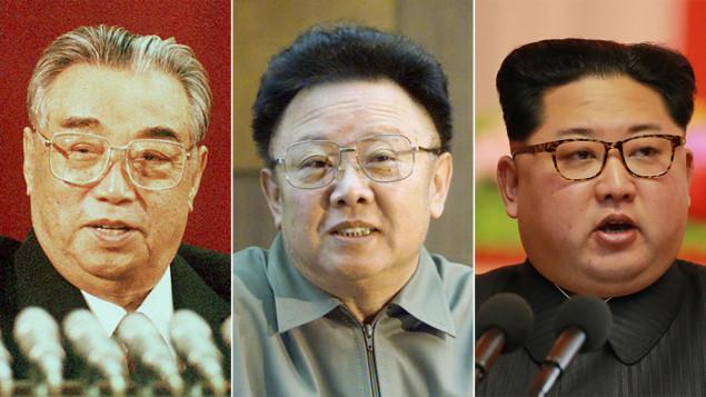 COREE NORD GF De père en fils, Kim Il-sung, Kim Jong-il et Kim Jong-un règnent sur la Corée du Nord depuis sa création, en 1948. histo-kim-il-sung-kim-jong-il-kim-jong-un-dynastie-co