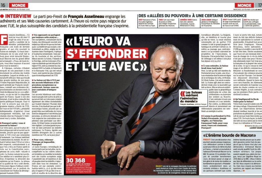 FRANCE FRANCOIS ASSELINEAU Le Matin» du 28.02.2018 article_lematin_fa_large