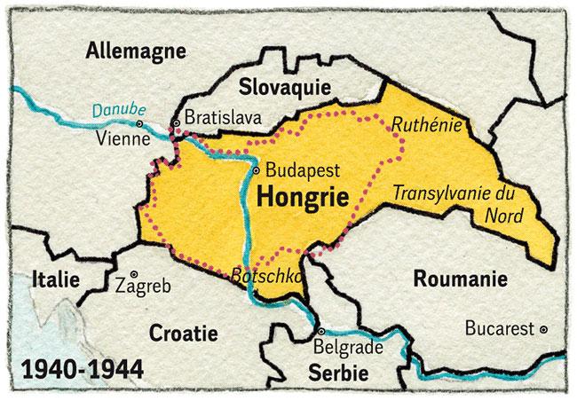 Hongrie 3 1944-45 Carte-Hongrie-4-V2