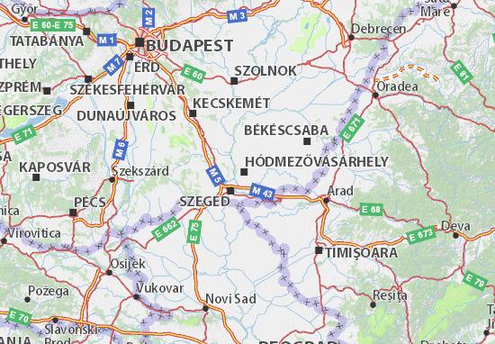 HONGRIE Hodmezovasarhely, Hungary carte