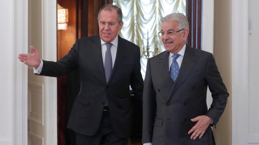 Russia-Pakistan-FM c Asif, Lavrov