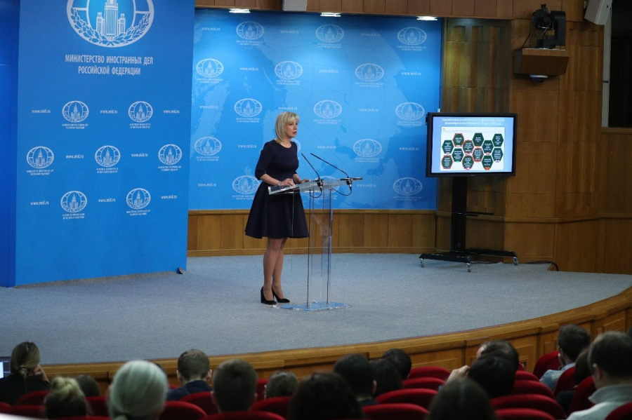 RUSSIE CONFERENCE PRESSE Maria Zakharova Брифинг 29-03-2018