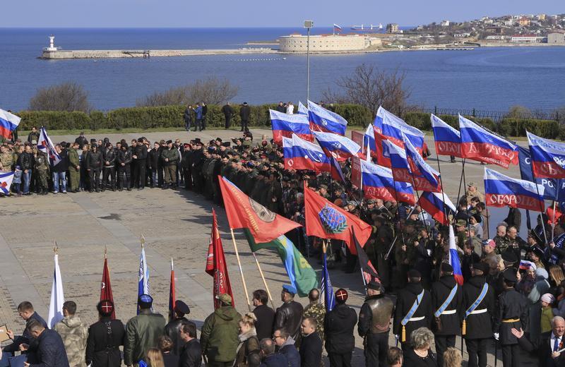 RUSSIE CRIMEE La célébration du troisième anniversaire de l'annexion de la Crimée, le 18 mars 2017rtx31l8e_layout_comp