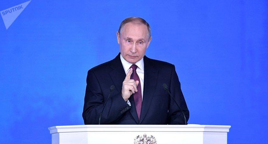 RUSSIE discours du président Poutine devant les corps constitués de la Fédération de Russie le 1er mars 2018 1035334186
