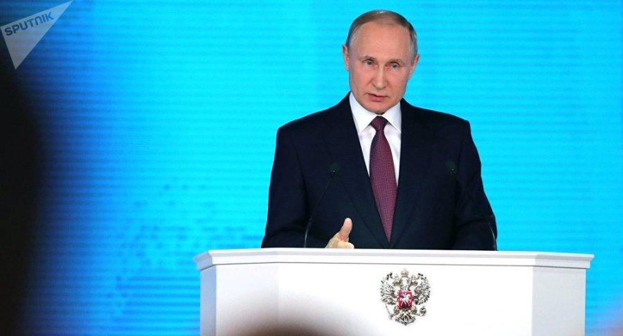 RUSSIE discours du président Poutine devant les corps constitués de la Fédération de Russie le 1er mars 2018 1035342761