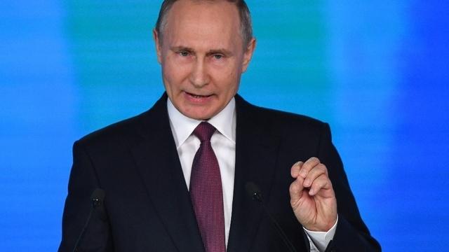 RUSSIE discours du président Poutine devant les corps constitués de la Fédération de Russie le 1er mars 2018 teaserbreit