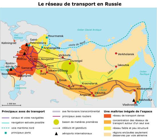 russie reseaux de transports 427221