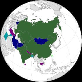 Carte des membres de l'OCS en 2017