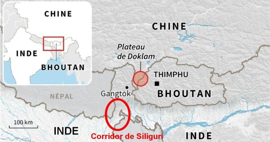 CHINE INDE BHOUTAN CORRIDOR DE SILIGURI ob_0e0d63_doklam