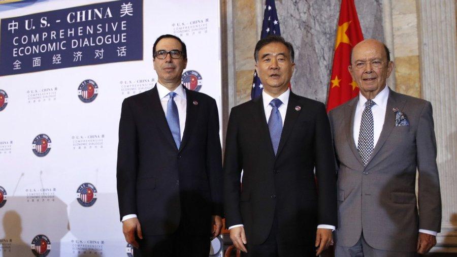 Wang Yang, Steven Mnuchin, Wilbur Ross