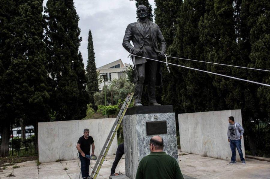 grece La statue du 33ème président américain Harry Truman à Athènes a été prise pour cible c6a3ef8be74053e2a7d8c018b059750e399cc926_field_mise_en_avant_principale_1